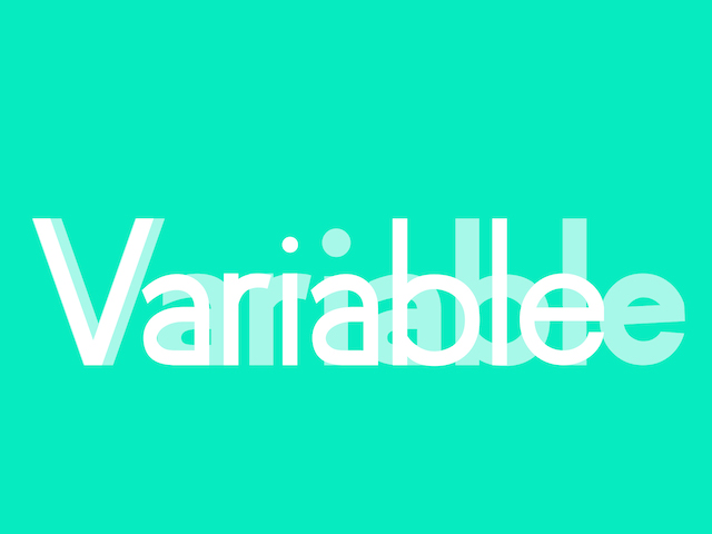 "The word ""Variable"" typeset"